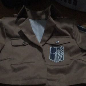 attack on titan cosplay jacket size s